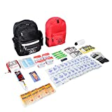 First My Family 4FKIT All-in-One 4-Person Premium Disaster Preparedness Survival...