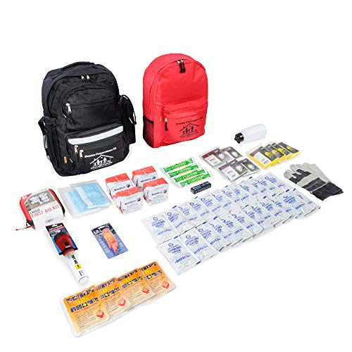 First My Family All-in-One 4-Person Premium Disaster Preparedness Survival Kit/Earthquake Kit with...