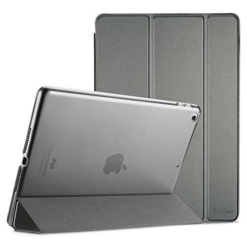 ProCase iPad 9.7 Hülle 2018 iPad 6 Generation /2017 iPad 5 Generation Tasche – Dünn Schlank Leichtgewicht Ständer mit Transluzent Matt Rückseite Intelligente Hülle für Apple iPad 9.7 Zoll –Metallisch