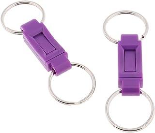 Baoblaze 2PCS Pull Apart Metal Key Chains Detachable Quick Release Clip Ring Holder