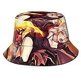 Anime Fate Grand Order Sombrero de Pescador Sombrero para el Sol - Protección Ultravioleta Transpirable Gorra de Cubo de ala Ancha para exteriores-32