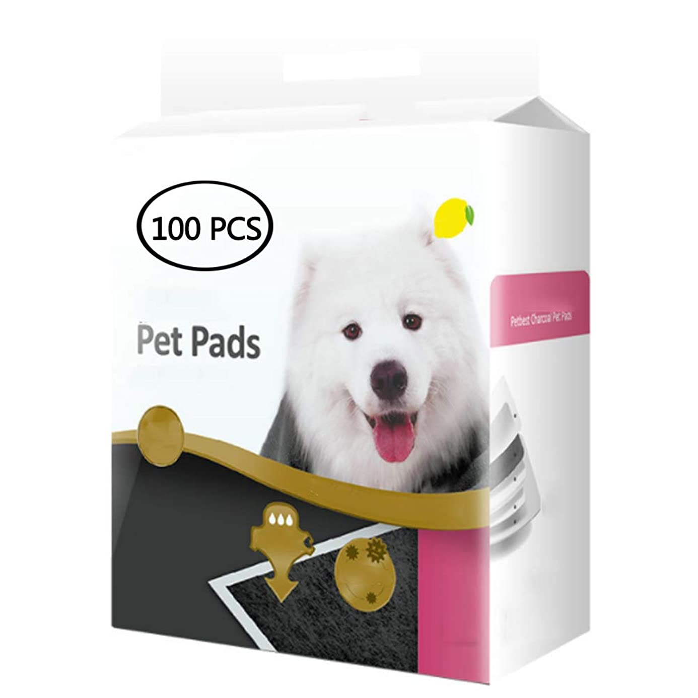 Carbon Pet Training and Puppy Pads with Instant Water Absorption, Lemon Astringency, Bamboo Charcoal Fiber for Pet Mats