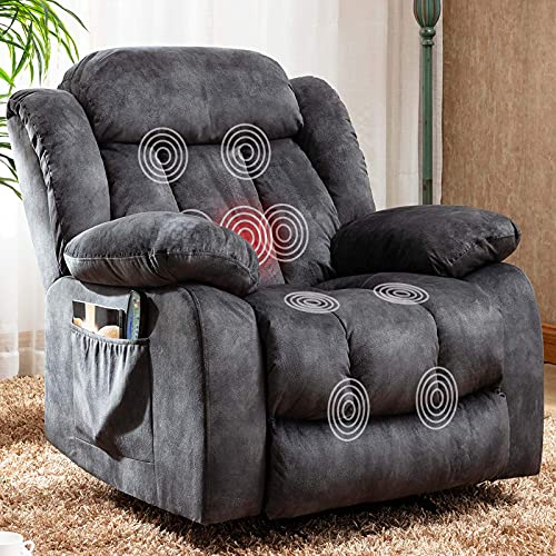 CANMOV Massage Recliner Chair with Heat and Vibration Manual Rocker...