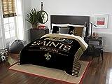 NFL New Orleans Saints Full Comforter and Sham Set, Full/Queen