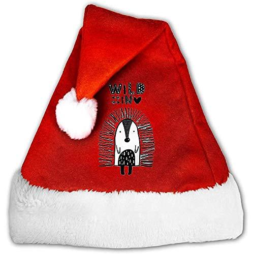 Kenice Rojo Y Blanco Gorro Navideo,Sombreros De Santa,Gorro Navideo De Santa,Precioso Sombrero De Vacaciones De Navidad De Puercoespn,Gorro De Pap Noel,Decoracin De Fiesta S