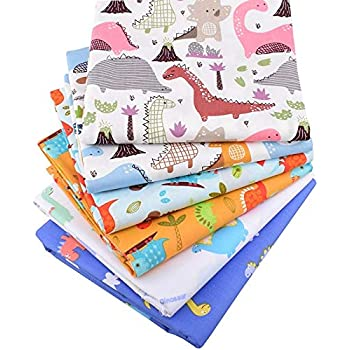 Amazon Com 6pcs 15 7x19 7 Inch Cute Dinosaur Cotton Fabric For Sewing Cotton Dinosaur Fabric For Quilting Cartoon Cotton Fabric For Diy Craft Colored Cotton Fabric For Sewing Solid Color Cotton Fabric