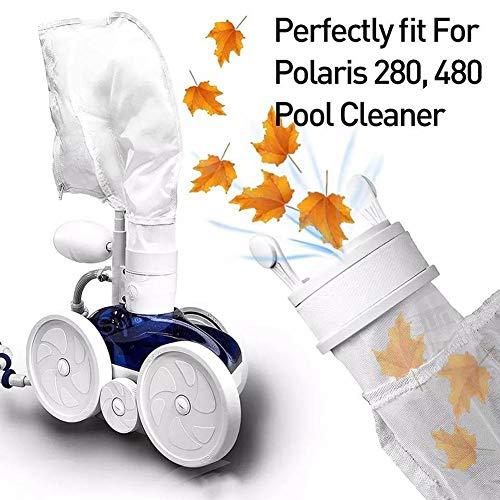 2 bolsas de filtro para limpiador de piscina, bolsa de repuesto para bolsa de arena y de cremallera para limpiadora de piscina, bolsas de aspiradora de piscina para modelo 280 480