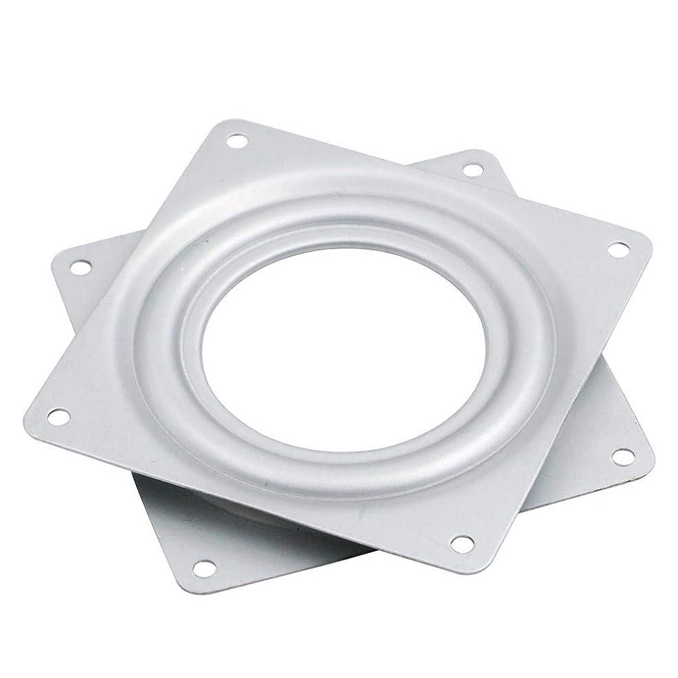 配列バウンス威信volflashy 回転盤 ターンテーブル ベアリング スイベル プレート ベース 4.5インチ 小型 展示 機械的 ヒンジ ハードウェア フィッティング
