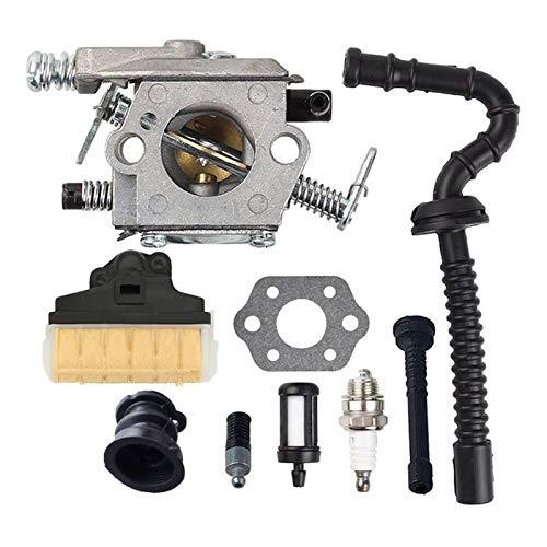 UGUTER Go Kart Carburetor MS 250 Kit de Ajuste de Filtro de Aire de carburador para MS250 Carburador 021 023 025 MS210 MS230 Sierra de reemplazo de Piezas de Sierra Carburador 125cc (Color : Silver)