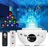 Yaasier Proyector Estrellas, 21 Modos Lampara Estrellas Proyector,Proyector Estrellas Techo con Altavoz Bluetooth...