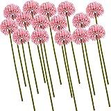 Flores Artificiales - 15 Piezas de Flores de Bola de crisantemo de Seda Falsa Ramo de Novia de Hortensia Artificial para la decoración de la Boda de la Fiesta en casa (Rosa)