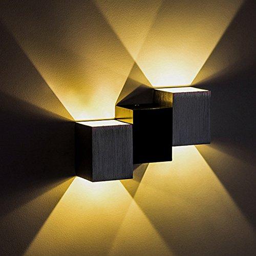 Couloir En Aluminium Mur Lampe Moderne Salon Chambre Chambre Chevet Restaurant Balcon Hôtel Projet LED Up And Down Jardin étanche à La Rouille éclairage Murale 6 W,YellowLight