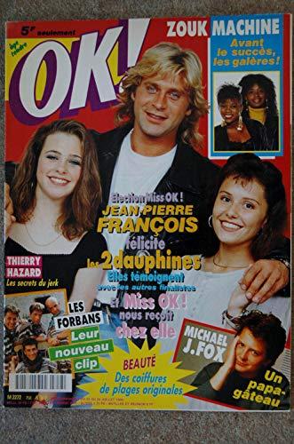 OK ! âge tendre 758 JUILLET 1990 ZOUK MACHINE MICHAEL J. FOX THIEERY HAZARD LES FORBANS JEAN-PIERRE FRANCOIS