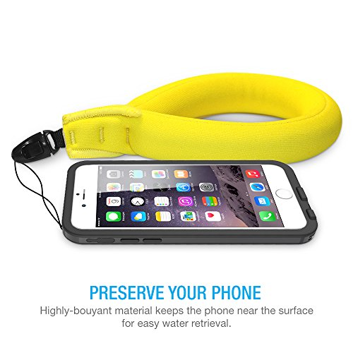 Waterproof Camera Float , Waterproof Float Strap for Underwater Camera and Waterproof Life Pouch Case - Universal Floating Wristband/Hand Grip Lanyard Works with GoPro, Nikon, Canon, Sony,Pentax,Camcorders,Panasonic, Keys and Sunglass -[ Yellow]
