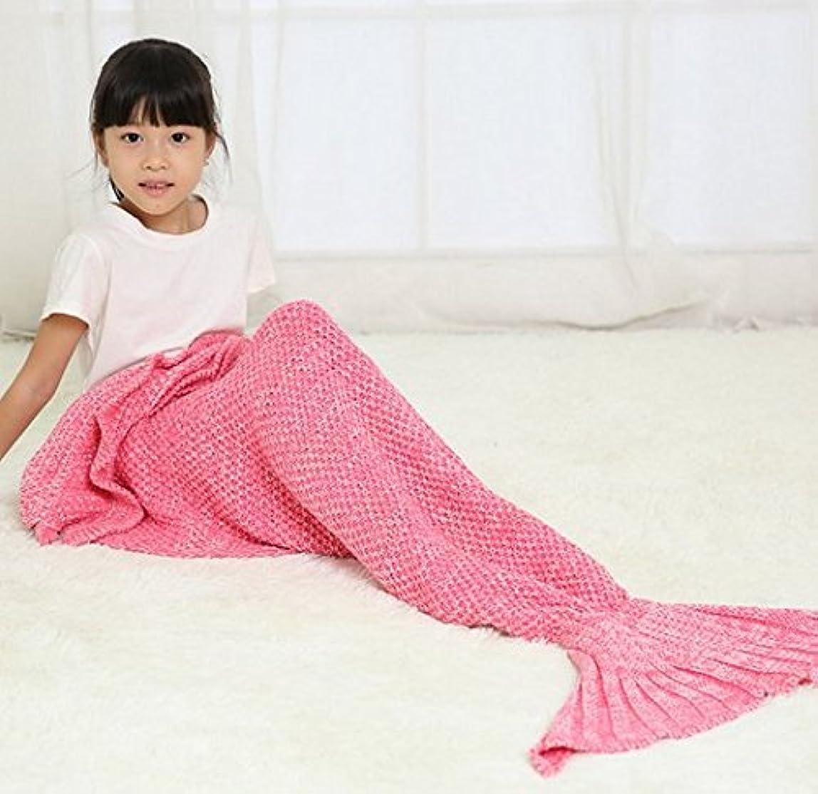 ブレースカメ失効人魚毛布 マーメイド ブランケット 人魚コスチューム 可愛いひざ掛け マーメイド 着る毛布 暖かい 柔らかい 防寒 人魚タイプ マーメイド 着る毛布 寝袋フォーシーズンズ (ピンク)