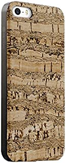 Cork Wood Case Compatible with iPhone SE | 5 | 5s - Natural Cork Leather, Eco-Friendly Design with Natural Camouflage Pattern (Camouflage Cork)
