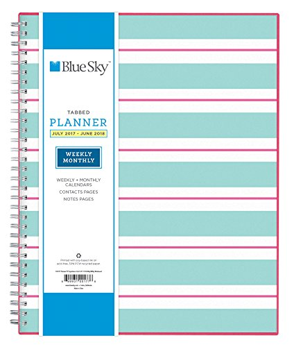 Blue Sky 2017-2018 Academic Year Weekly & Monthly Planner, Twin-Wire Bound, 8.5' x 11', Capistrano