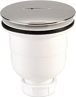 Nicoll 92884 Ablaufgarnitur für die Dusche, 90 mm Durchmesser, Auslauf grün 790 0205110, weiß