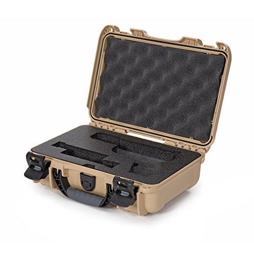Nanuk 909 Waterproof Professional Glock Pistol/Gun Case, Military Approved with Custom Insert - Tan (909-GLOCK0)