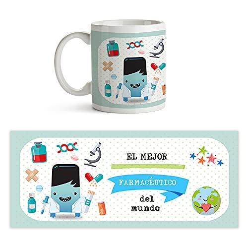 Fotoprix Taza al mejor Farmacéutico del mundo   Taza de café para Farmacéuticos   Taza de desayuno regalo original Farmaceútico