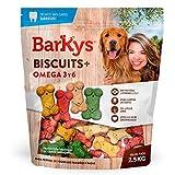 BARKYS Biscuit premios para Perro con Omega 3 Y 6, 2.5 kg