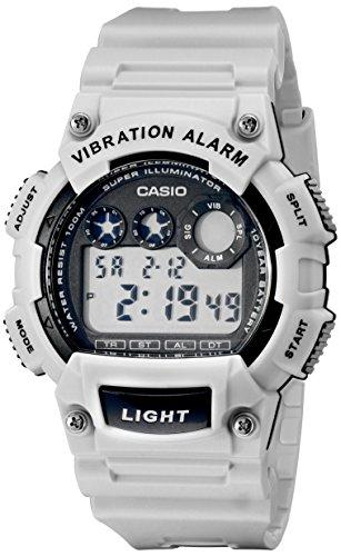 Casio W-735H-8A2VCF Orologio digitale con allarme vibrante da uomo