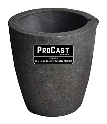 PMC Supplies LLC #6-8 Kg ProCast Foundry Clay Graphite Crucibles Cup Furnace Torch Melting Casting Refining Gold Silver Copper Brass Aluminum