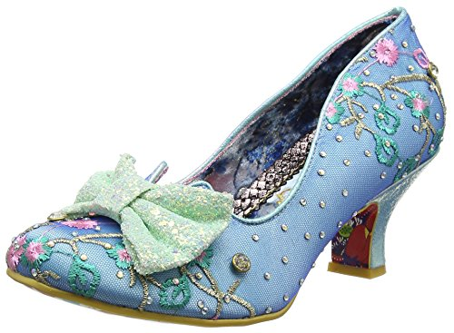 Irregular Choice Damen Dazzle Razzle Pumps, Blau (Blue/Mint at), 38 EU