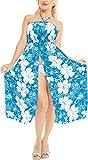LA LEELA Women's Boho Tube Dress Bandeau Beach Swim Coverup US 0-14 Teal_M623
