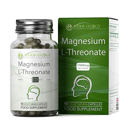 Neuro-Active Magnesium L Threonate [1500mg] No Fillers, Binders or Additives | 90 Vegan Capsules | Chelated for Cognitive Bioavailability, Neural Health — Made in The UK