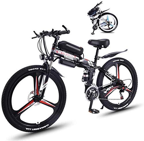 Ebikes, bicicleta eléctrica plegable de llantas de grasa para adultos con 26 'Super Lightweight Aleación de magnesio Aleación Integrada Bicicleta La suspensión completa y 21 engranajes de velocidad, L