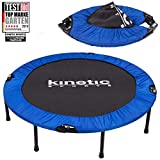 Kinetic Sports Fitness Trampolin, TOP Marke Testbild Auszeichnung!, Indoor Minitrampolin, Sprungtraining, Smart Jumping Workout, platzsparend faltbar, Ø 122cm, bis 100kg