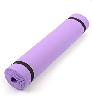 """Forfar 68""""X24""""X0.24"""" 6Mm Thick Yoga Mat Non Slip Lose Weight Exercise Fitness"""