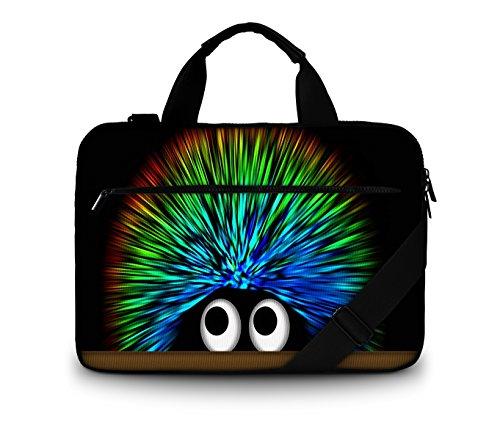 Luxburg®-Bolso acolchado con bandolera para ordenador portátil, bolsa de hombro multifuncional 13,3 - 14,2 pouces Hérisson 'undercover'