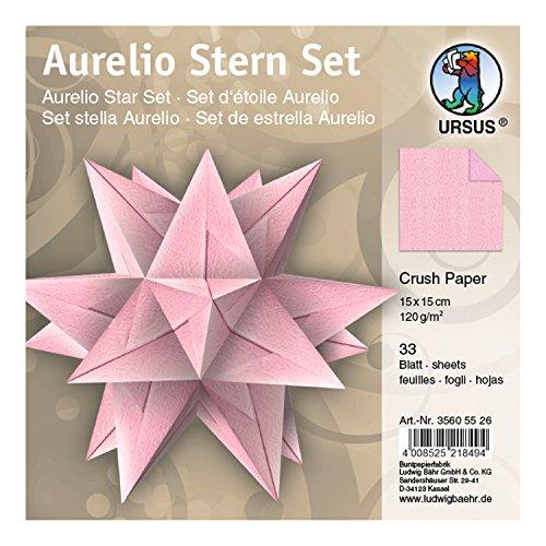 Ursus Papel Aureliopara Estrella Origami, Crush Paper, 15x 15cm