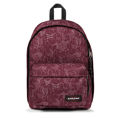 Eastpak Out Of Office Zaino Casual, 27 Litri, Rosso (Merlot Blocks)