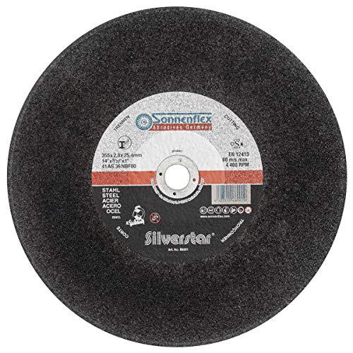 Sonnenflex Trennscheibe 5x Ø 355 x 2,8 x 25,4 mm, Für stationäre Kappsägen bis 3kW Antriebsleistung, Stahl Profile Stangen Premium-Qualität. 4103510660019