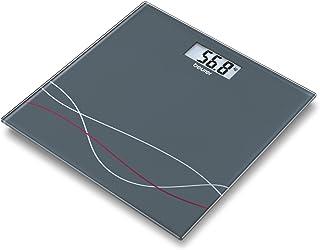Beurer GS27 Báscula de baño, color gris, 30 x 30 cm, 1.85 kg
