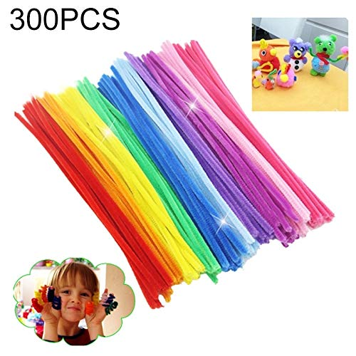 Zhouzl Jouets d'intelligence 300 pcs/lot Montessori Matériaux Math Chenille Tiges Sticks Puzzle Craft Enfants Pipe Cleaner Jouet Créatif Éducatif Jouets d'intelligence