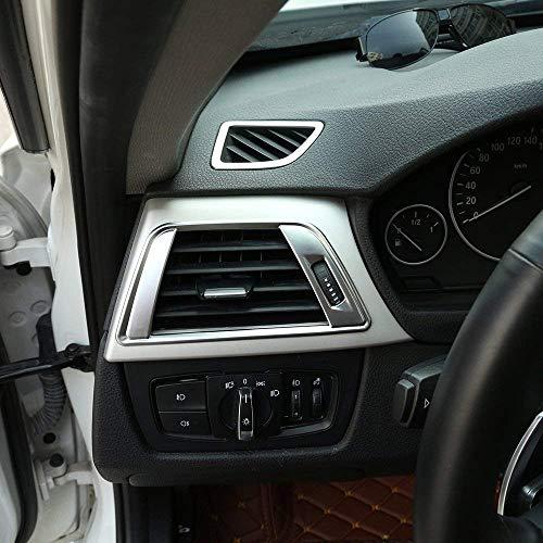 Plastique ABS Tableau de Bord Climatisation Ventilation Garniture pour 3 Série 4 F30 F31 F32 F34 F35 F36 F36 2014 2015 2016 Argent Mat