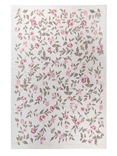 Blumen-Teppich   Landhaus   Floral   Klassisch   Modern   Saugroboter freundlich   60 x 90 cm; Farbe: Beige   THEKO die markenteppiche - FLOMI