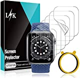 6 Pack L K Screen Protector Compatible for Apple Watch SE & Series 6 40mm, Max Coverage Bubble-Free Flexible TPU Clear Film with Circle Installation Tool