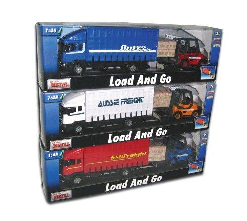 Teama Toys Charge de métal moulé sous Pression et Aller Ensemble - fret Camion avec Chariot élévateur et Palette