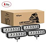Nilight - 15019S-D Led Light Bar 4PCS 18w Spot Driving Fog...