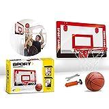 "Basketball Backboard And Hoop Set Steel Rim Pro-Style Ring Backboard Full Size Shatterproof Replacement Equipment For Bedrooms Door Kids Adults Outdoor Indoor Sports Basements 18""x12"""