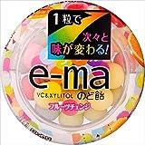 味覚糖   e-maのど飴容器カラフルフルーツチェンジ  33Gヨウキ×6袋