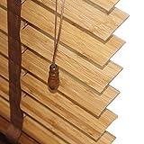 WENZHE Tenda A Rullo Cortina di bambù Tende alla Veneziana Tapparella Otturatore Legno Massiccio Impermeabile Vernice UV Adatto ACasa Cucina -3 Colori -Personalizzabile (Color : C, Size : 50x110cm)