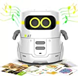 AT Educational Toys, Robot Kids Toddler Toys Robotic Interactive Learning Toys Games for Boys Girls 2 3 4 5 Year Old and Up,Talking Robots Partner with Touch Control Guess Card Game Singing Dancing
