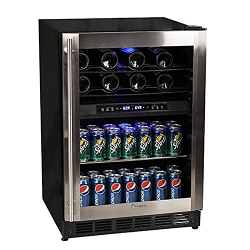 Magic Chef 44 Bottle Stainless Dual Zone Wine & Beverage Cooler MCWBC77DZC