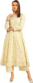 LIBAS Women Cotton Kurti with Palazzo Set   Ladies Top Kurta Kameez Salwar Suit Bottom Pant   Ethnic Indian Pakistani Part...